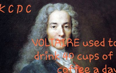 VOLTAIRE REPORTEDLY DRANK 40 CUPS OF COFFEE A DAY